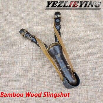 NEW Bamboo Wood Slingshot Kids Sport Game Slingshot Catapult Outdoor Hunting Shooting Toys Powerful Sling Shot