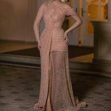 Женское вечернее платье Русалка с блестками праздничное Дубая
