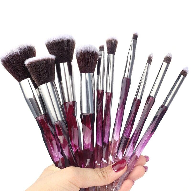 10pcs Makeup Brushes Soft Professional Foundation Eyebrows Set Of Blush For Cosmeti Blush Powder Foundation Tool Kit Natural