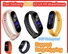M5 Bracelet intelligent IP67 étanche montre-Bracelet Portable Bracelet intelligent podomètre Bluetooth moniteur de fréquence cardiaque Sport Fitness Tracker