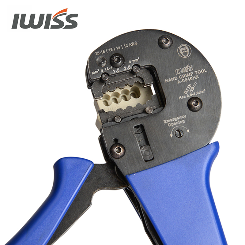 D  C  0540HX AWG26 IWISS Connectors Hand 12 4 Locator E Tools With For Han IWS Harting Crimping 0mm2 0 14mm2