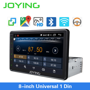 Image 1 - JOYING single din universal car radio 8 inch IPS screen autoradio head unit GPS suport mirror link& fast boot&s*back up camera