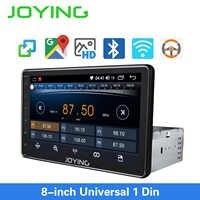 Joying único ruído universal rádio do carro 8 polegada ips tela unidade de cabeça autoradio gps suport espelho ligação & rápida boot & s * back up câmera