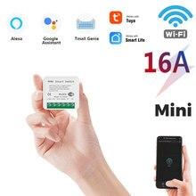 Mini commutateur Wifi intelligent 16a, prise en charge du contrôle bidirectionnel, Module domotique intelligent, fonctionne avec Alexa Google Home Smart Life App