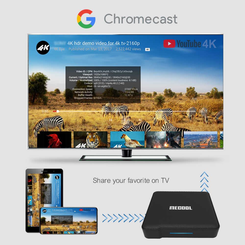 Mecool KM1 Certificada Google Andriod 9.0G Amlogic 4G 64 S905X3 ATV caixa de tv Dupla Wi-fi 4K Voz caixa Andriod tv Youtube smart box