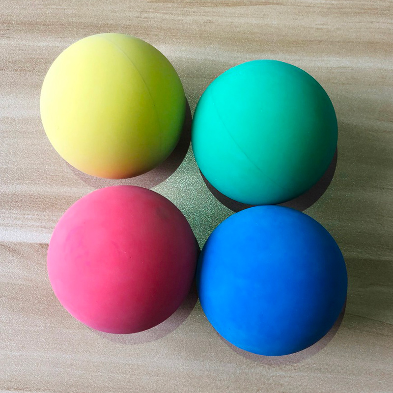 12 Pcs 5.5cm Racquetball Rubber Ball High Elasticity For Game Practice Training WHShopping