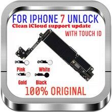 """IPhone 7 için 4.7 """"anakart 32G 128gb MB dokunmatik kimlik parmak izi desteği LTE 4G iphone 7 Unlocked mantık kurulu cips ile"""