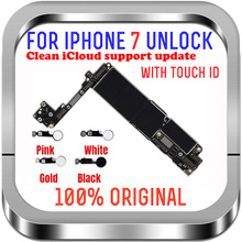 """for iPhone 7 4.7"""" Motherboard 32G 128gb MB with Touch ID fingerprint Sopport LTE 4G for iphone 7 Unlocked logic board with chips"""