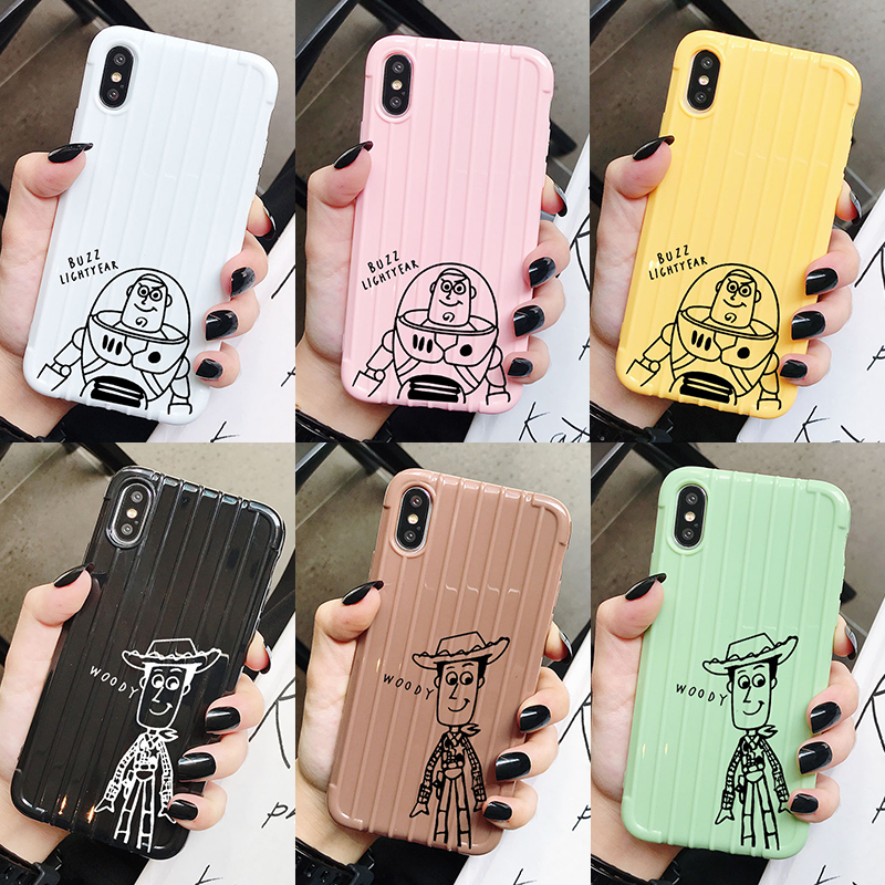 <font><b>Toy</b></font> <font><b>Story</b></font> Buzz Woody Trunk Case For <font><b>iPhone</b></font> 11 <font><b>XR</b></font> X Xs Max 8 7 6 Plus 6S 5S SE Pro Soft TPU Phone Cover Back <font><b>Coque</b></font> image