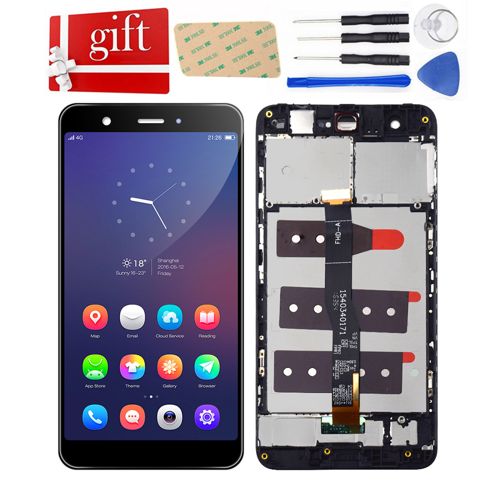 LCD For Huawei Nova CAN-L01 CAN-L02 CAN-L03 CAN-L11 L12 L13 LCD Display Touch Screen Assembly Frame For Huawei Nova LCD Screen