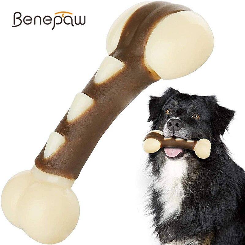 Benepaw Umweltfreundliche Hund Knochen Für Aggressive Kauer Durable Rindfleisch Gewürzt Spielzeug Hund Welpen Spielzeug Für Kleine Große Hunde Zahnen