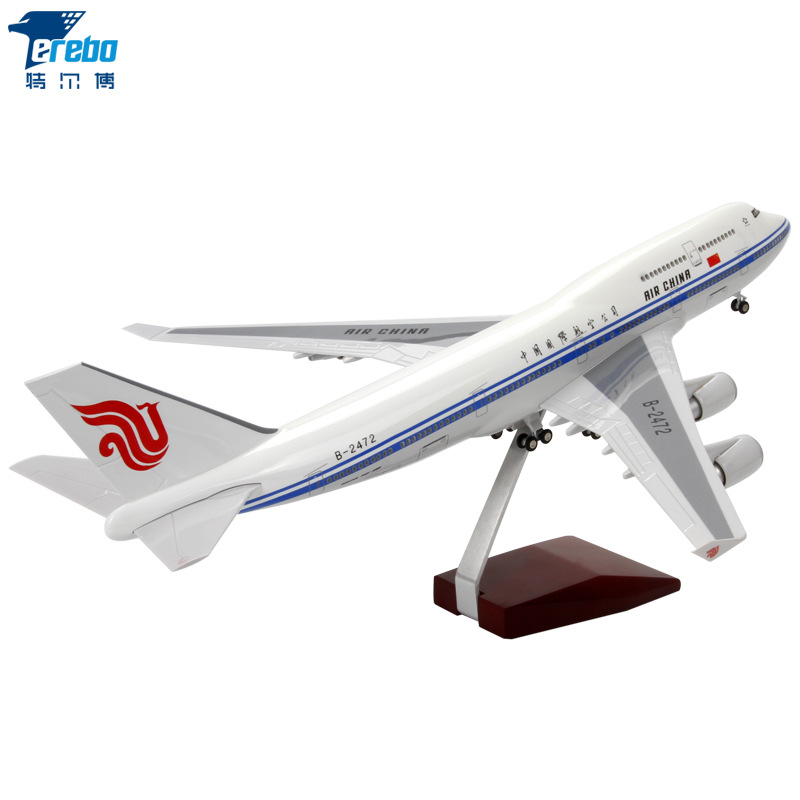 1: 150 Air China Boeing B747 Aircraft Model Delta Air Lines Evergreen Airlines Civil Aircraft Simulation Decoration