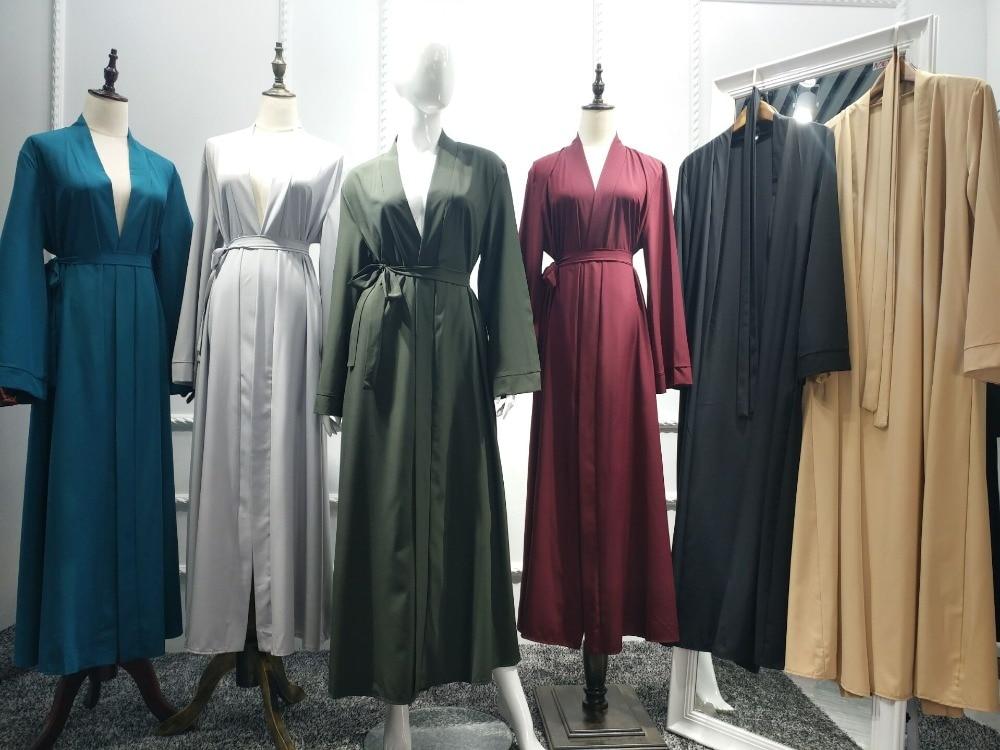 2019 Abaya Dubai Muslim Dress Kaftan Kimono Bangladesh Robe Musulmane Islamic Clothing Caftan Marocain Turkish Eid Cardigan
