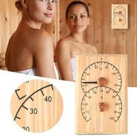 Термометр для сауны гигрометр деревянный Точный Цифровой Монитор влажности сауна комната аксессуар полезные инструменты Быстрая доставка...