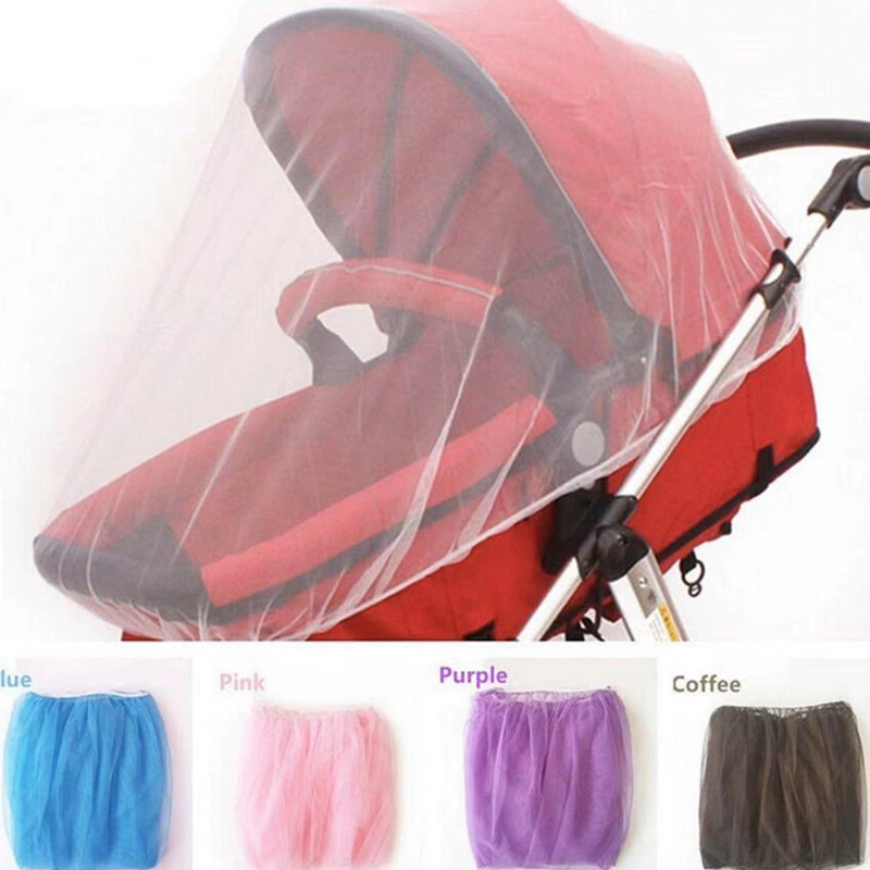 Newborn Toddler Infant Baby Stroller Crip Netting Pushchair Mosquito Insect Net Safe Mesh Buggy White Cart Mosquito