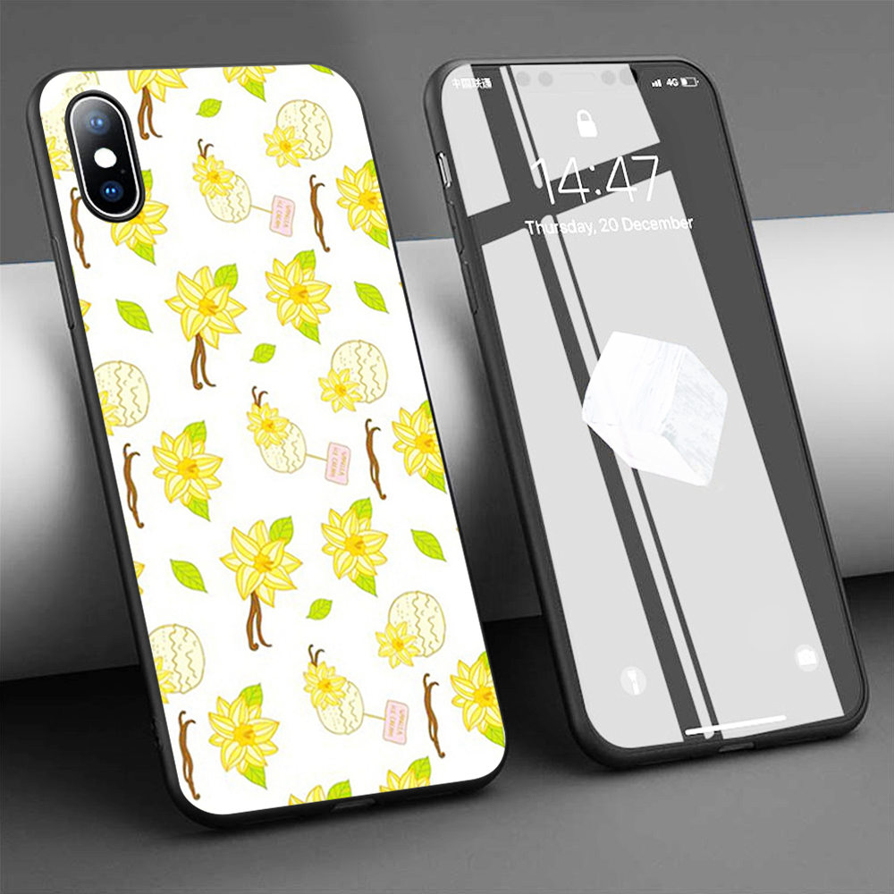 Coque Free Vanilla Ice Cream Soft Silicone Phone Case for iPhone 11 Pro Max X 5S 6 6S XR XS Max 7 8 Plus Case Phone Cover image
