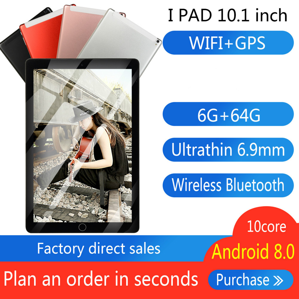 Brand New 10 Inch Eight Core 6G + 64G  Android 8.0 Dual Card Dual Camera Rear WiFi Call Mobile Phone Tablet WiFi Call 2020