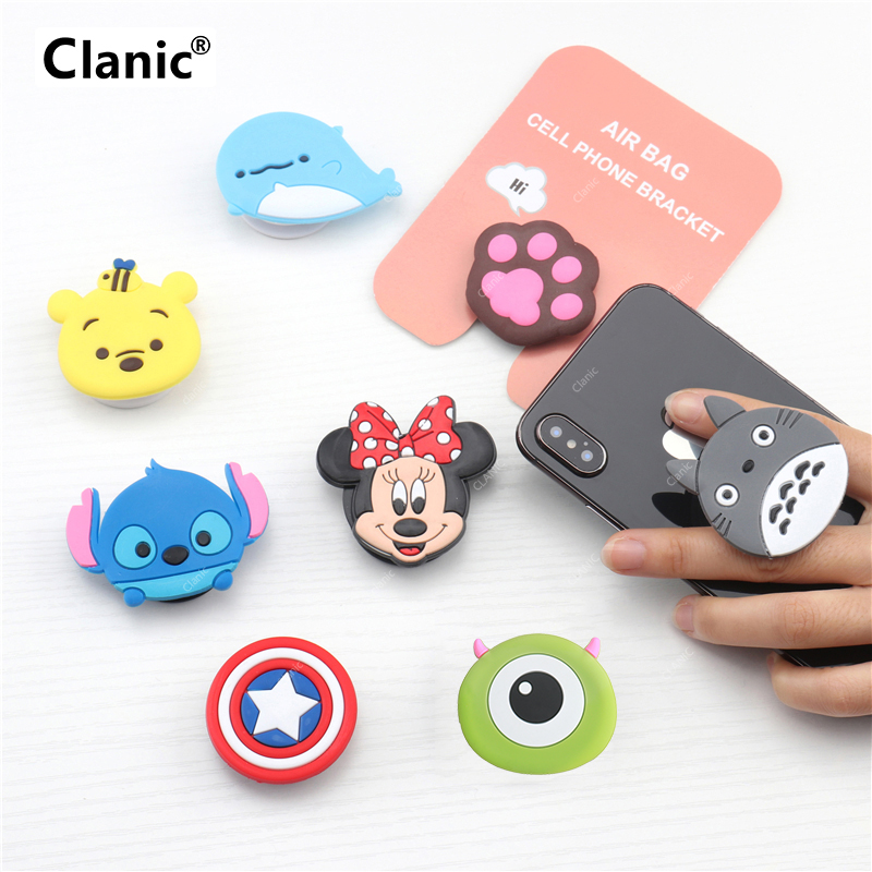 Cute Cartoon Mobile Phone Grip Bracket Phone Expanding Stand Phone Finger Ring Holder For Phones For Iphone X Xs 8 Xiaomi Redmi
