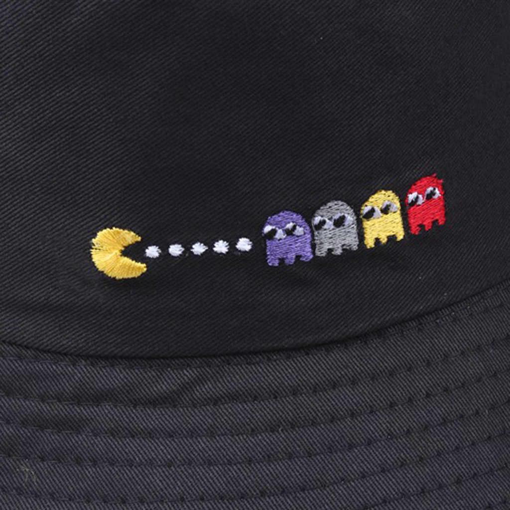 Chapeau de pêcheur brodé pour hommes, casquette de plage brodée, style Hip Hop, voyage, Sports de plein air, dessus plat, chapeau de soleil Bob, 519 #3