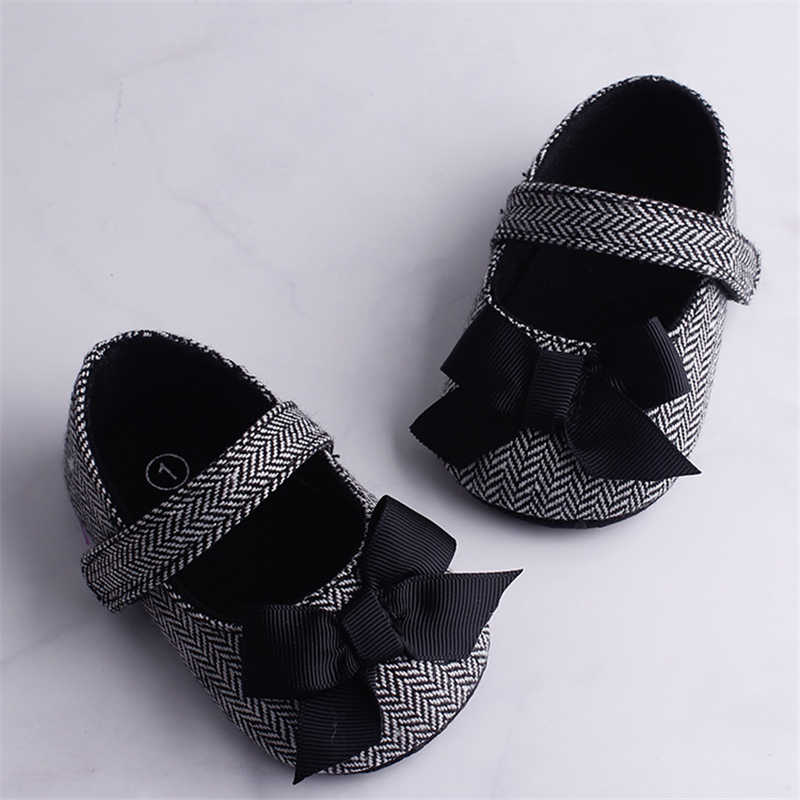 Emmababy Infant Baby Girl Shoes Bowknot Anti-Slip Soft Sole Hook First Walkers Toddler Infant Baby Girl Kids Shoes 0-18M 3 Color