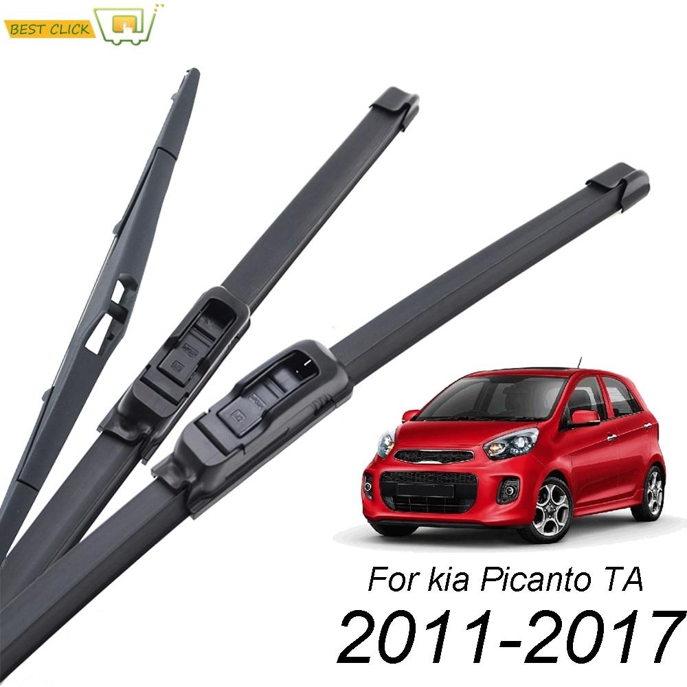 Balais d'essuie-glace pare-brise Misima pour Kia Picanto TA MK2 2011 - 2017 lunette arrière avant 2012 2013 2014 2015 2016