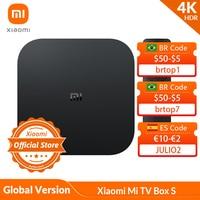 Xiaomi-Smart TV box S Mi con 4K, HDR, transmisión continua de Android TV, reproductor multimedia, con mando a distancia Google Assistant