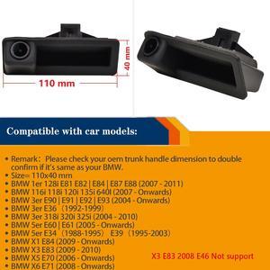 Image 4 - 1280x720p alça Tronco Rear View camera Reversa Backup para BMW X5 X1 X6 E39 E53 E82 E88 E84 E90 E91 E92 E93 E60 E61 E70 E71 E72