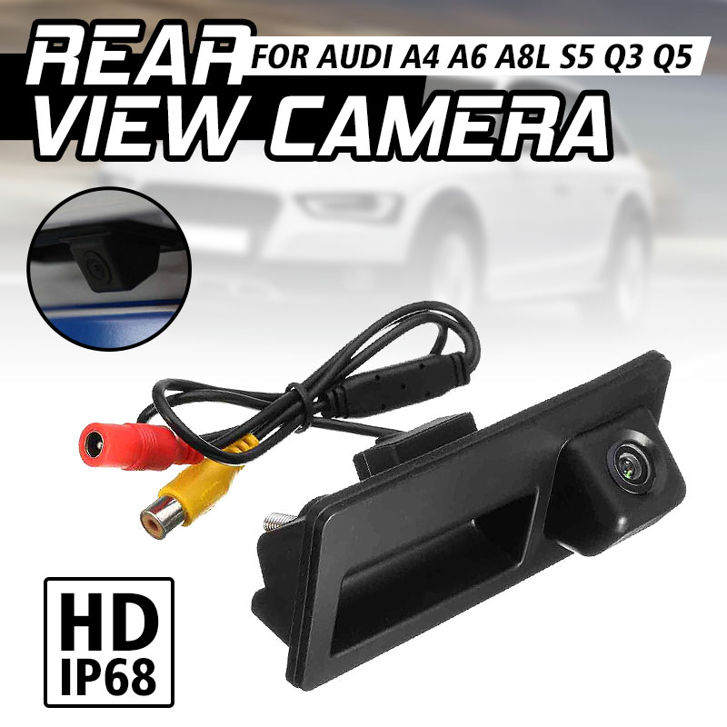CCD HD Car Trunk Handle Rear View <font><b>Camera</b></font> Parking for <font><b>Audi</b></font> A4 A5 S5 <font><b>Q3</b></font> Q5 for VW Golf Passat Tiguan Jetta Sharan Touareg B6 B7 image