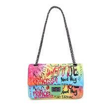 Graffiti Chain Bag For Women 2019 Luxury Women Bags designer Shoulder Bag Fashion Brand Colorful Crossbady Bags sac main femme