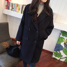 Get more info on the New Maternity Clothes Autumn Winter Fashion Loose Thicken Pure Color Cloak Single-breasted Coats Clothes for Pregnant Women Coat