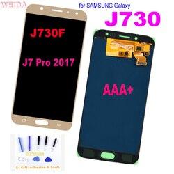 ЖК-дисплей 5,5 дюйма для SAMSUNG Galaxy J7 Pro 2017 J730, сенсорный экран с цифровым преобразователем в сборке для J730FM/DS J730F/DS J730GM/DS