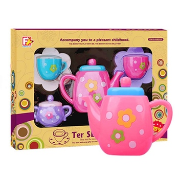 Simulation Teapot Set Toys For Children Play Tools House Educational Toy Mini Kitchen Tools Baby Early Education Pretend Toys simulation soft silicone baby dolls photography props pregnancy early education utensil children play house toys l633