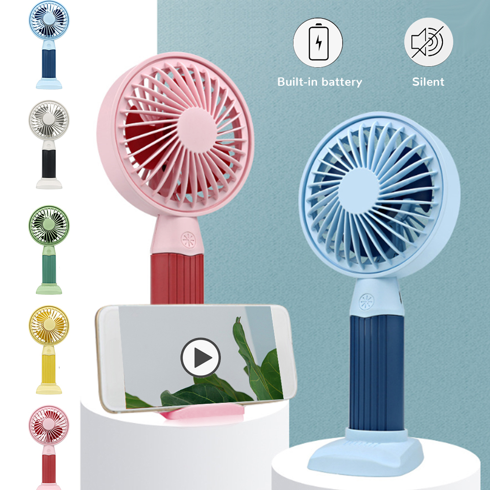 Color : Pink , Size : Free size Mini Portable Fan Handheld Mini Fan 3 Speed USB Hand Held Personal Fans Rechargeable Battery 1200mAh Powered Pocket Fan For Outdoor USB Fan for Travel Office