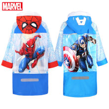 Disney Raincoat for Children Cartoon Spiderman US Captain Kids Girls Rainproof Poncho Boys Rainwear Baby Rainsuit