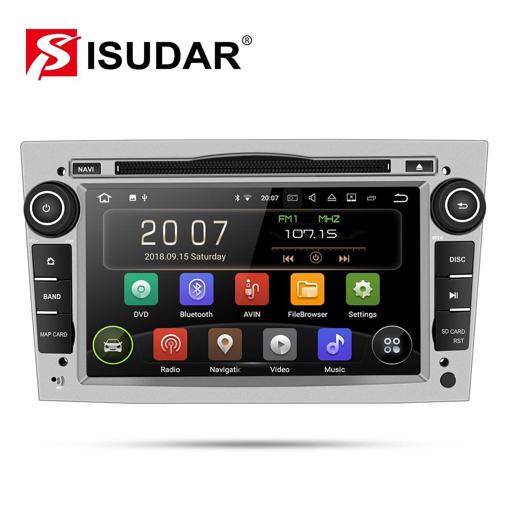Isudar Car Multimedia Player GPS Android 9 2 Din DVD Automotivo Para OPEL/ASTRA/Zafira/Combo/ corsa/Antara/Vivaro Rádio FM DSP DVR