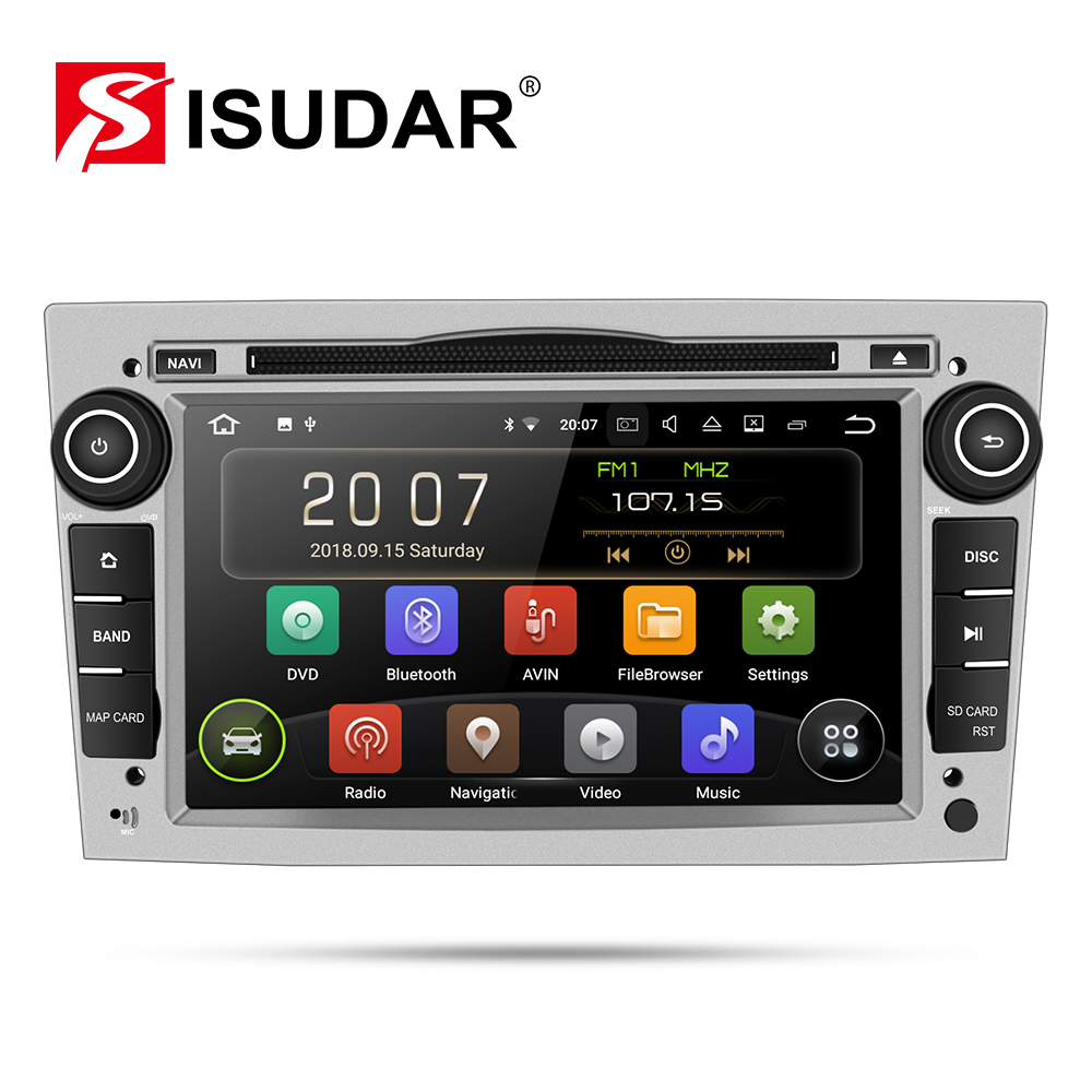 Isudar Car Multimedia Player GPS Android 9 2 Din DVD Automotivo For OPEL/ASTRA/Zafira/Combo/Corsa/Antara/Vivaro Radio FM DSP DVR-in Car Multimedia Player from Automobiles & Motorcycles
