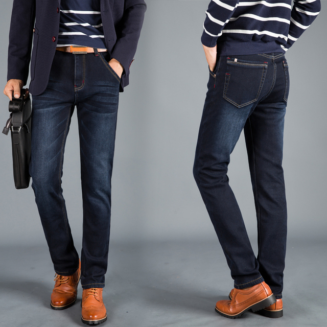 New Winter Insulated Denim Jeans 5