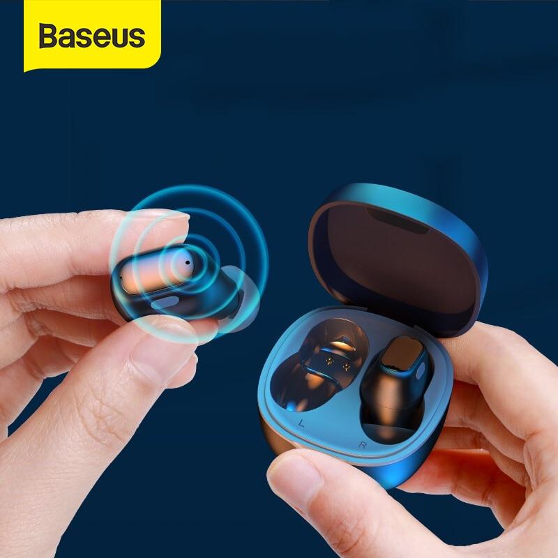 Baseus WM01 auriculares TWS, inalámbricos por Bluetooth 5,0, auriculares estéreo con Control táctil y cancelación de ruido para videojuegos Auriculares y audífonos  - AliExpress