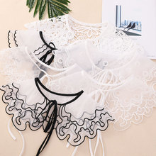 Many Beautiful Mesh Openwork Embroidery Water Soluble Lace Versatile Collar Accessories Ladies Girls Standard Size Decoration