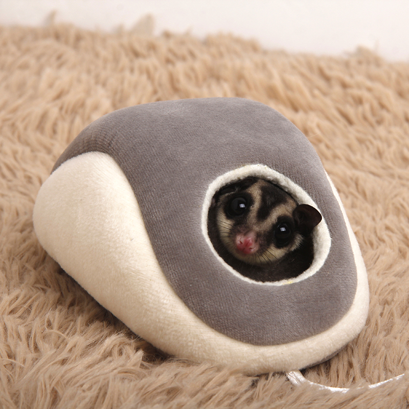 2 Color Sugar Glider Hamster Bed Nest Mouse Shape house Small Animal Winter Warm Bedding Supply