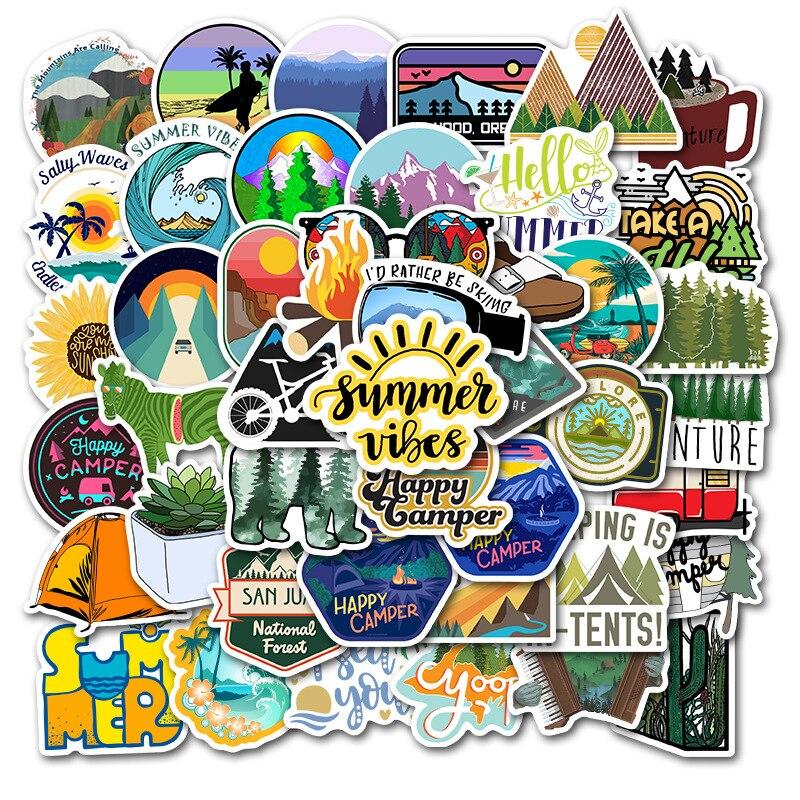 Happy Camper Sticker Pack (50 piece) 5