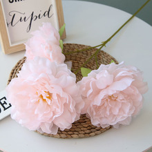 Off-the-shelf 3 head diameter 15cm-13cm Peony Wedding home road guide flower wall decoration simulation fake flower