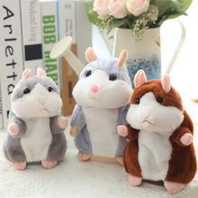 Говорящая Мышка для хомяка плюшевая игрушка домашних животных