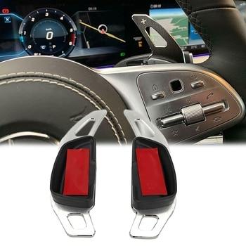 Extensión de la palanca de cambios, extensión de la palanca de cambios del volante del Metal de aluminio s para mercedes-benz S a B C E GLK GLC GLA CLA GL