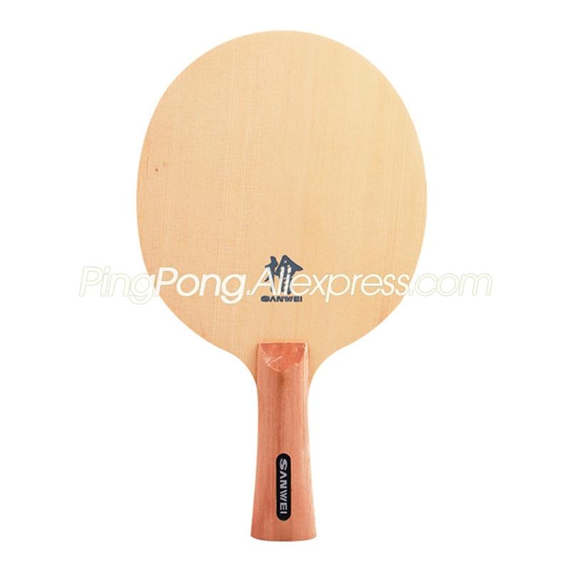 SANWEI H10 (1-Ply HINOKI) SANWEI Table Tennis Blade Solid Cypress SANWEI H-10 Hinoki Ping Pong Bat Paddle
