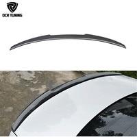 M4 Style Carbon Fiber Rear Trunk Spoiler Lip for Audi A4 B8 Carbon Spoiler Carbon firber wing 4 Door Sedan 2009 2010 2011 2012