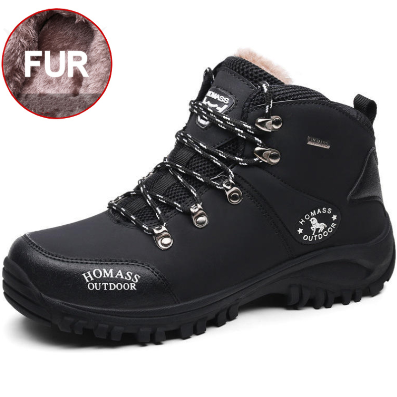 New Men Winter Snow Boots Super Warm Plush Waterproof Ankle Working Boots Anti-Skidding Durable Outdoor Hiking Shoes Male