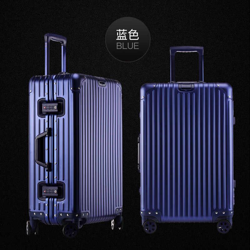 """Piaoruxu 20 """"24"""" 26 """"29"""" インチ 100% アルミスピナー旅行スーツケース手荷物トロリーホイール"""