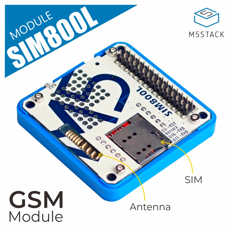 M5Stack Official In Stock GSM Module SIM800L Stackable IoT Development Board For Arduino ESP32 With MIC & 3.5mm Headphone Jack