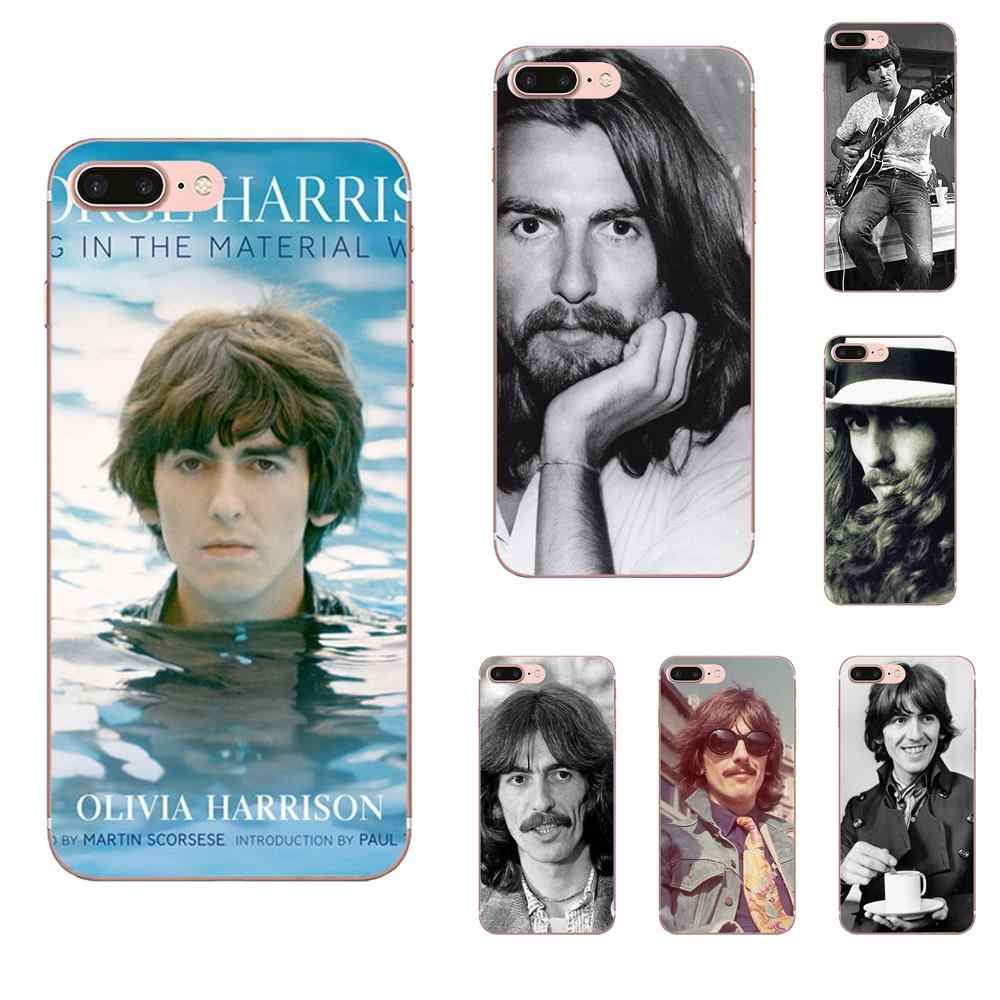George Harrison Silicone Mềm TPU Trong Suốt Di Động Dùng Cho Apple iPhone 4 4S 5 5C 5 5S SE 6 6S 7 8 Plus X XS Max XR